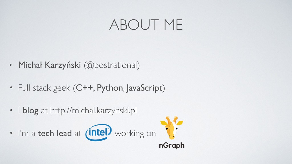 ABOUT ME • Michał Karzyński (@postrational) • F...