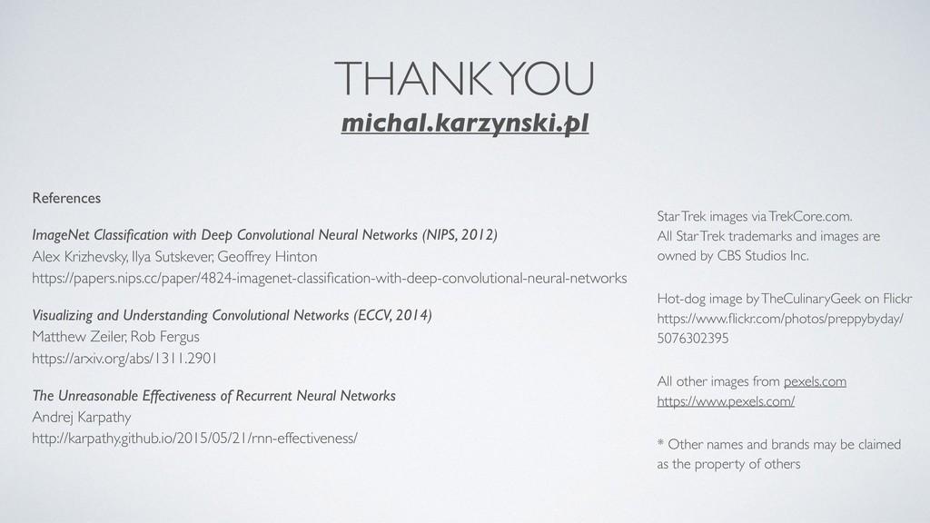 THANK YOU michal.karzynski.pl References ImageN...