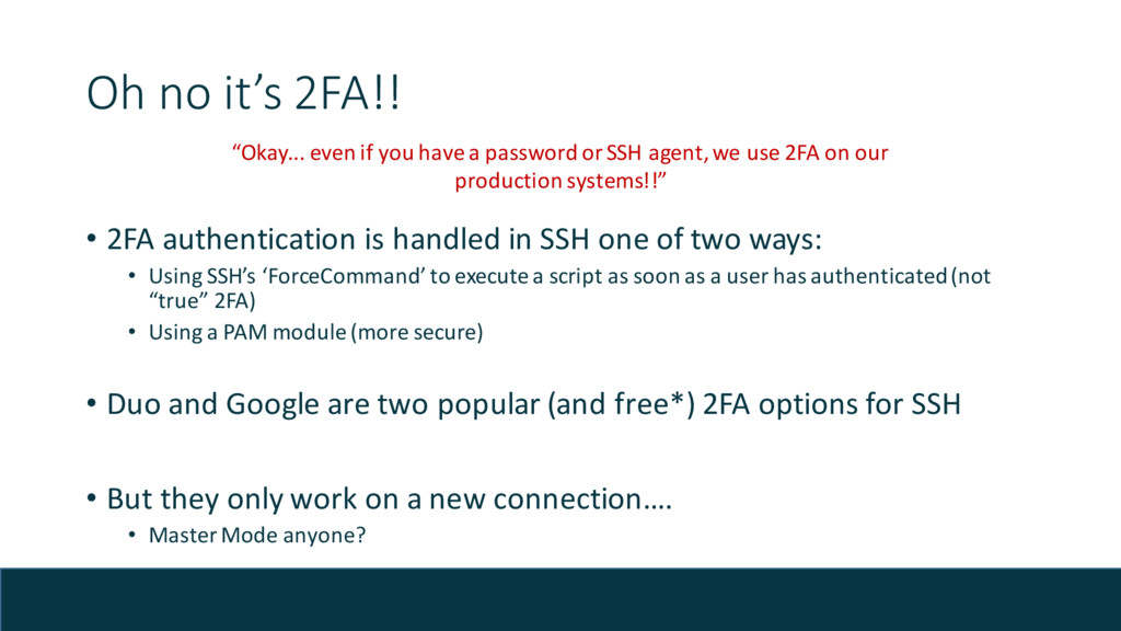 Oh no it's 2FA!! • 2FA authentication is handle...