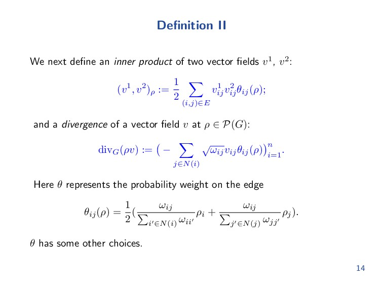 Definition II We next define an inner product of ...