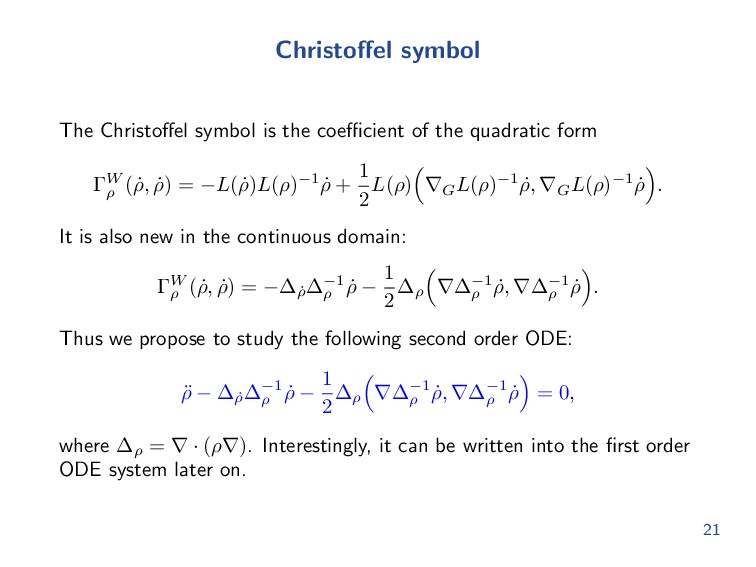 Christoffel symbol The Christoffel symbol is the ...
