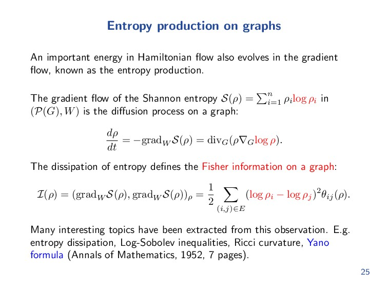 Entropy production on graphs An important energ...