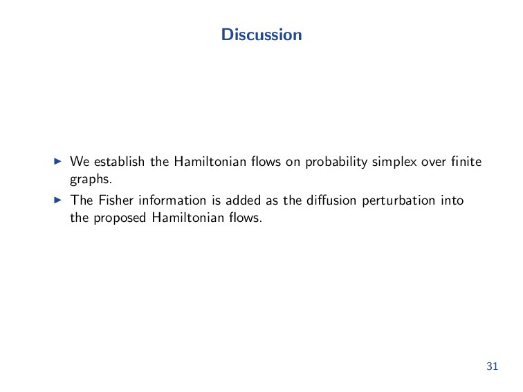 Discussion We establish the Hamiltonian flows on...