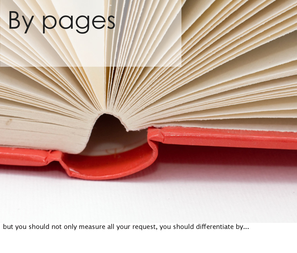 By pages but you should not only measure all yo...