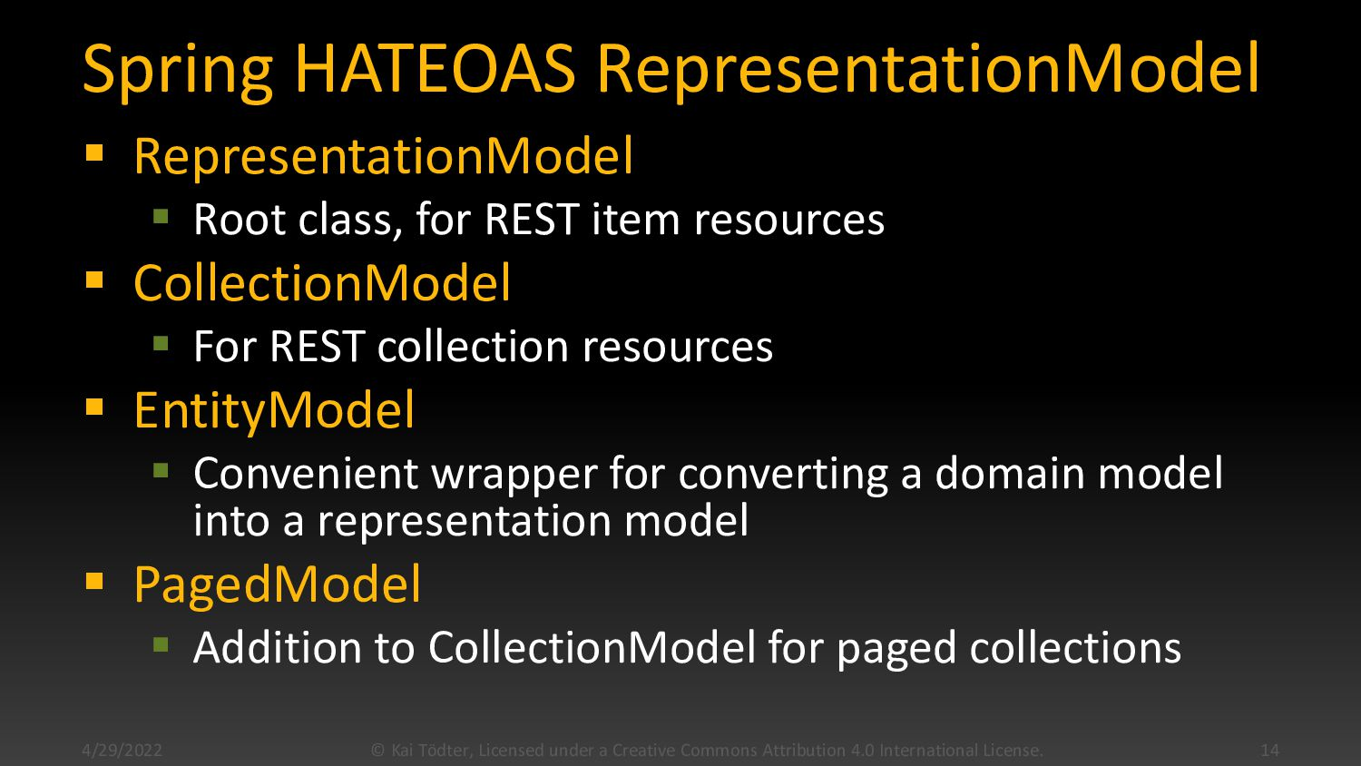 Representation Models  REST => Representationa...