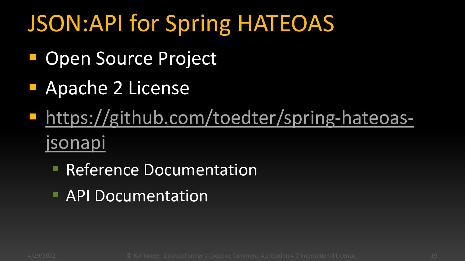 {json:api} for Spring HATEOAS
