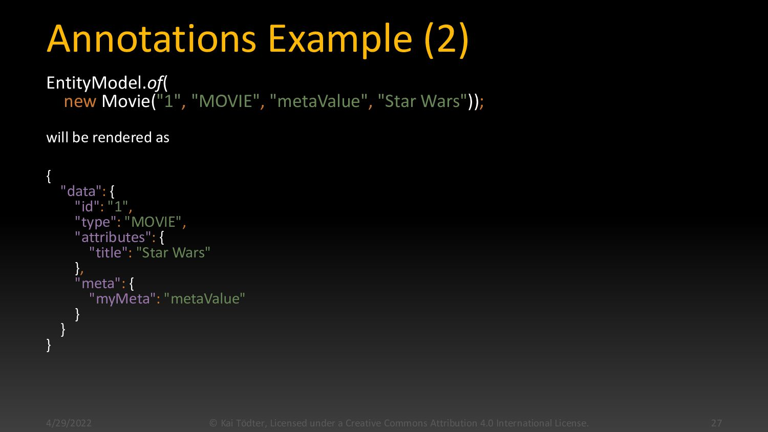 Annotations Example (2) EntityModel.of(new Movi...