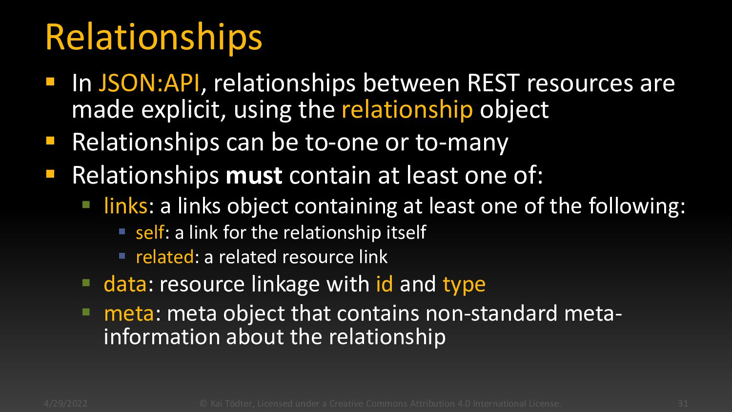 Relationships  In json:api, relationships betw...