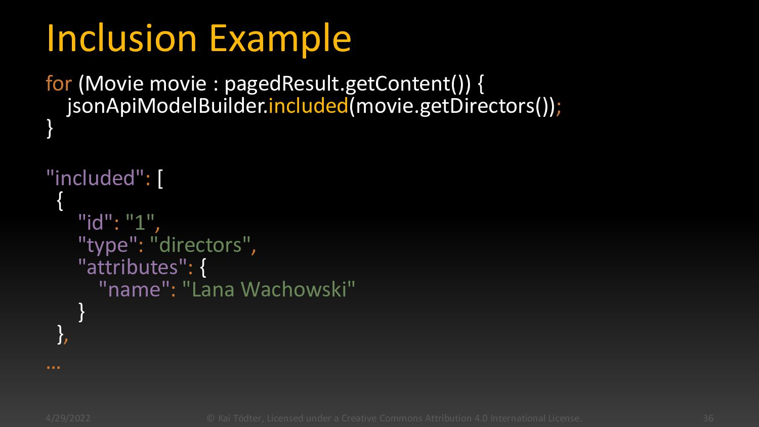 Inclusion Example for (Movie movie : pagedResul...