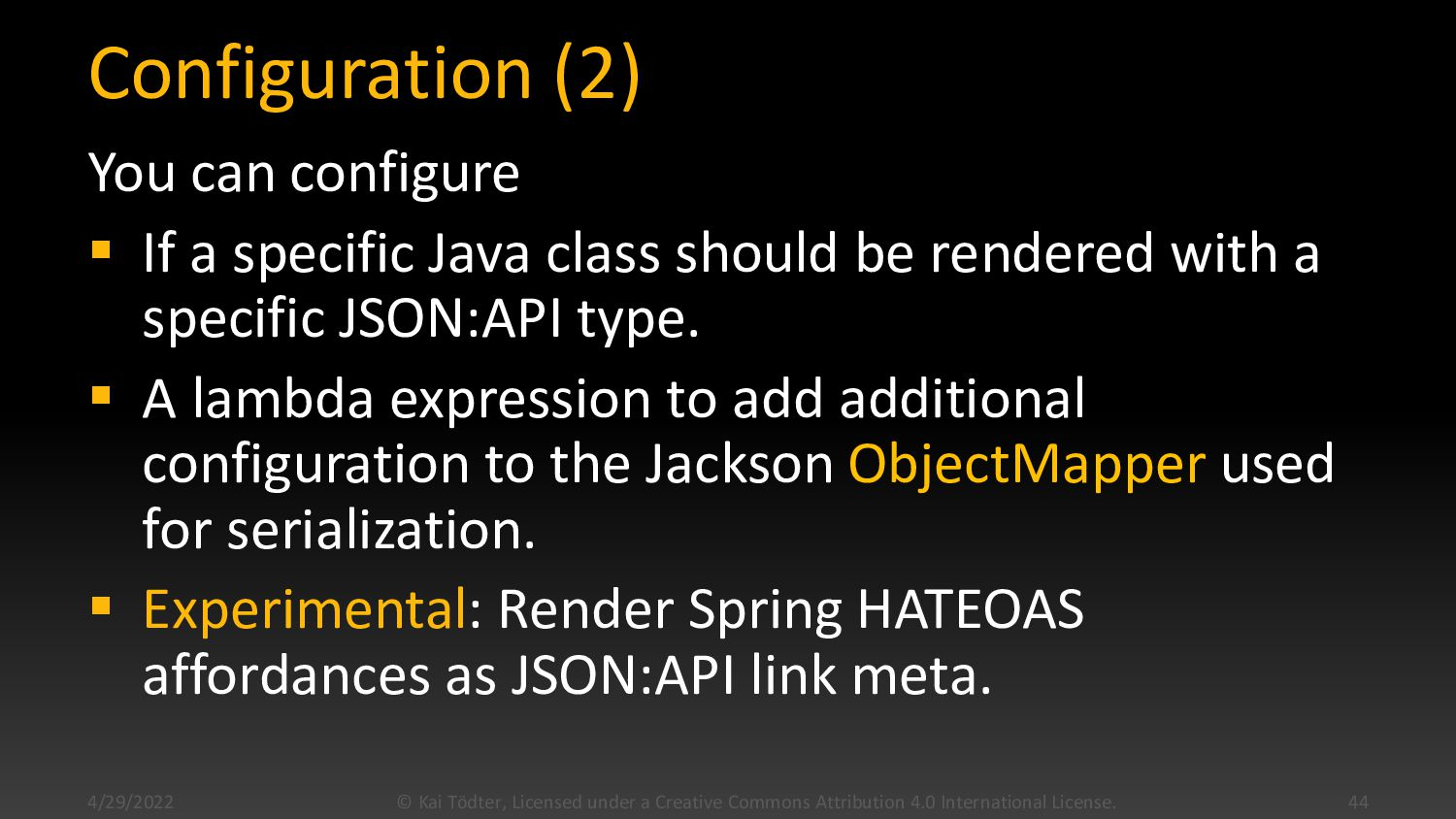 Configuration Example @Bean JsonApiConfiguratio...