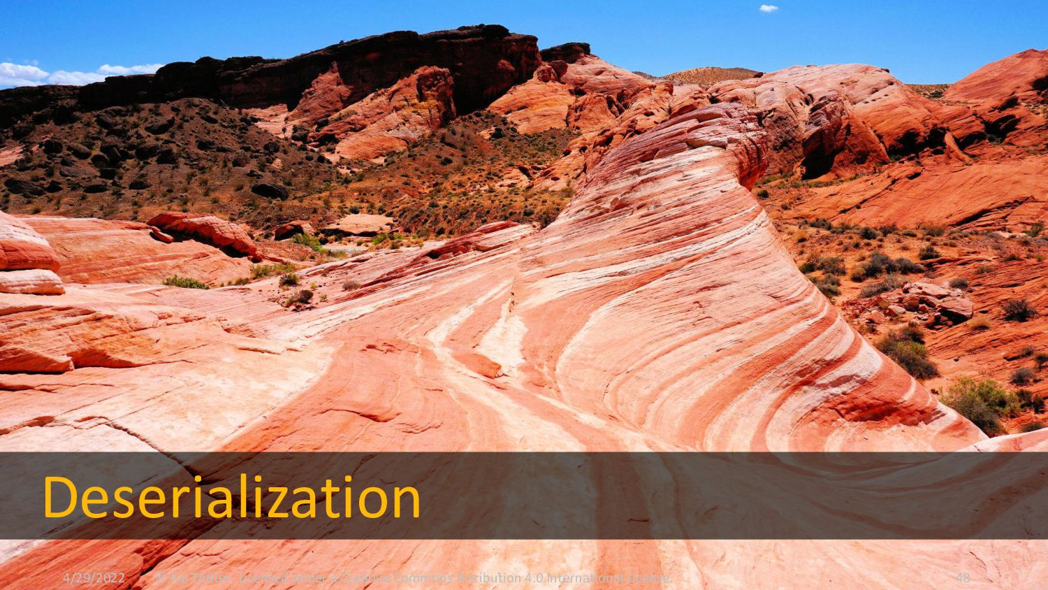 Deserialization  We want to deserialize JSON i...