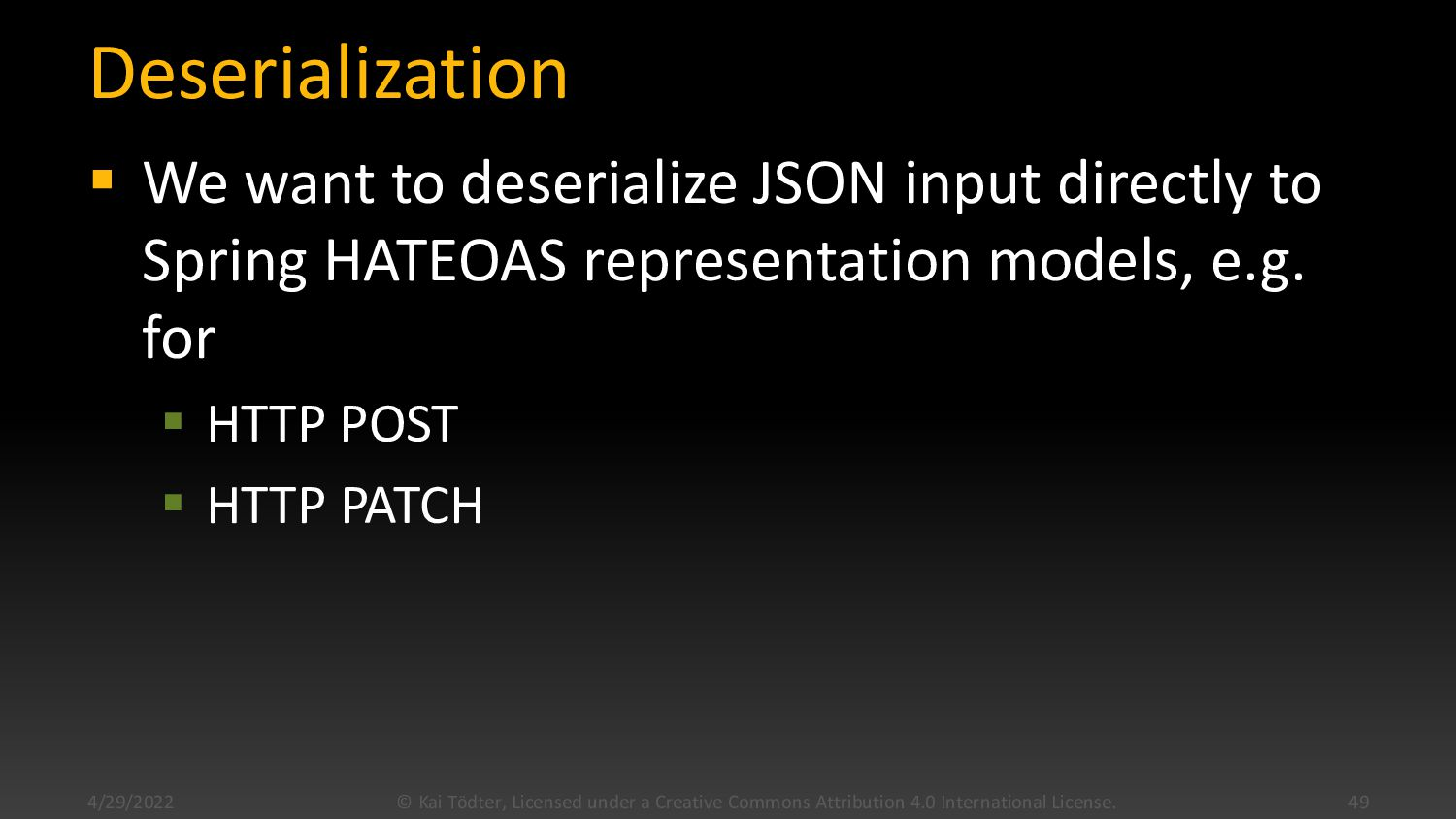 "Deserialization Example (1) { ""data"": { ""type"":..."