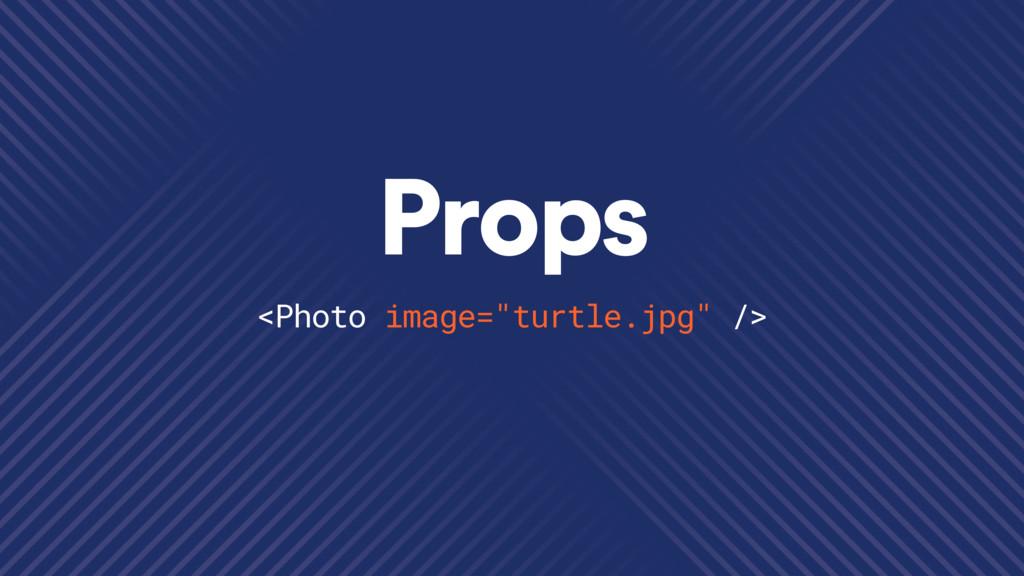 "Props <Photo image=""turtle.jpg"" />"
