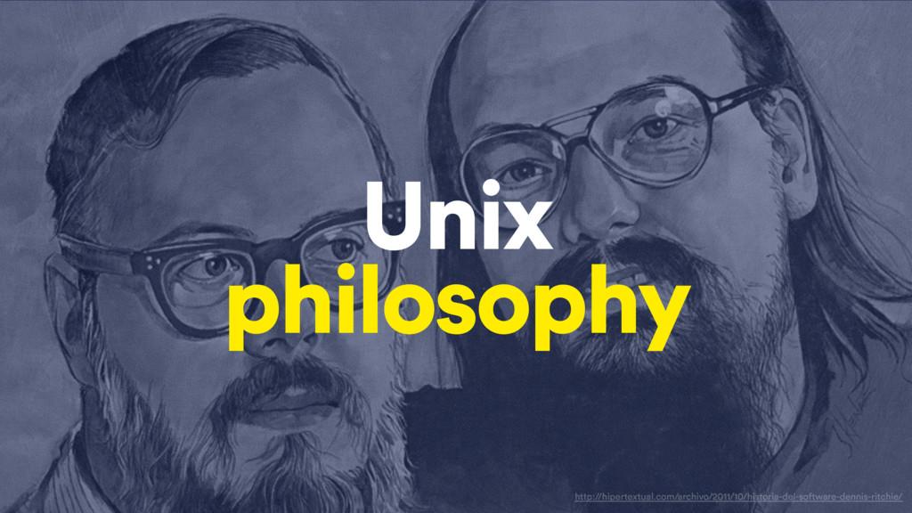 Unix philosophy http://hipertextual.com/archivo...