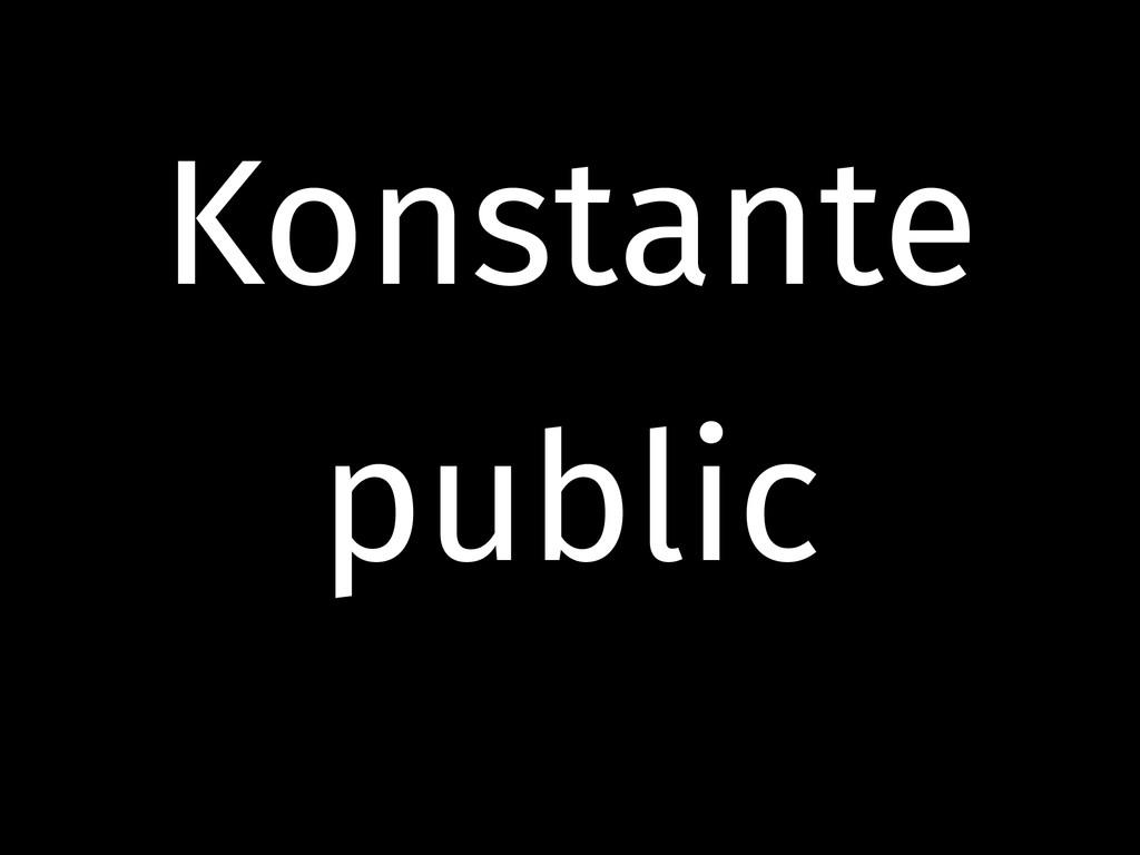 Konstante public