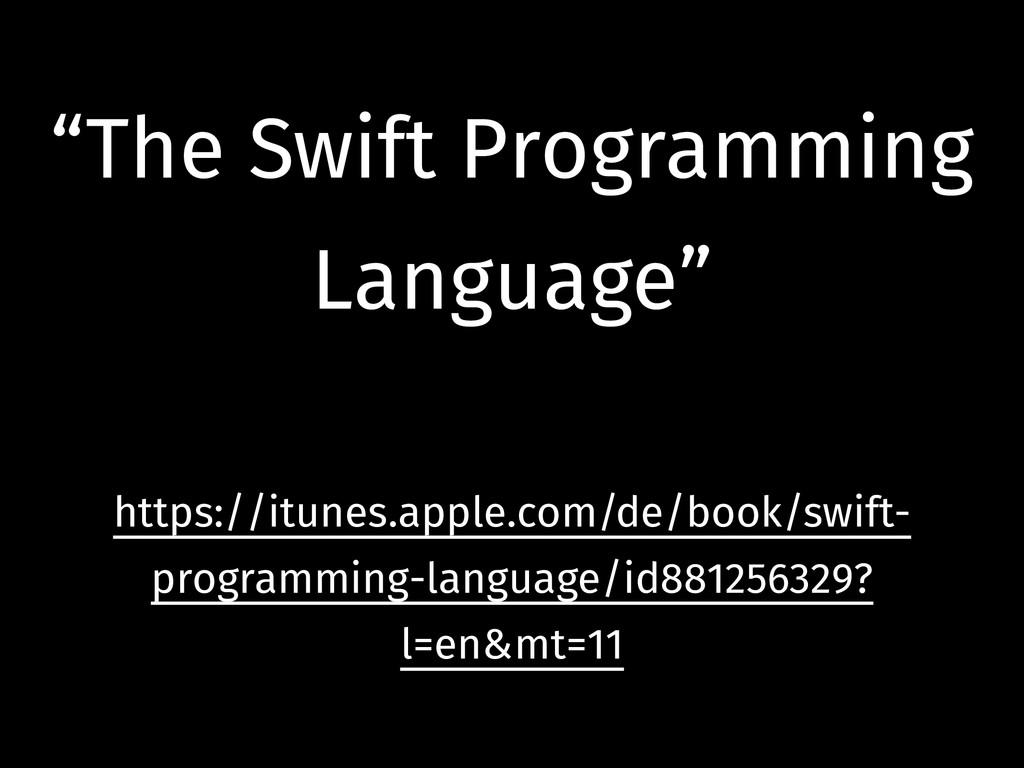 """The Swift Programming Language"" ! https://itun..."