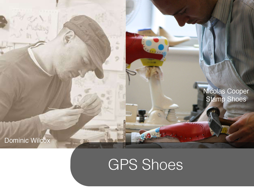 Nicolas Cooper ! Stamp Shoes Dominic Wilcox GPS...