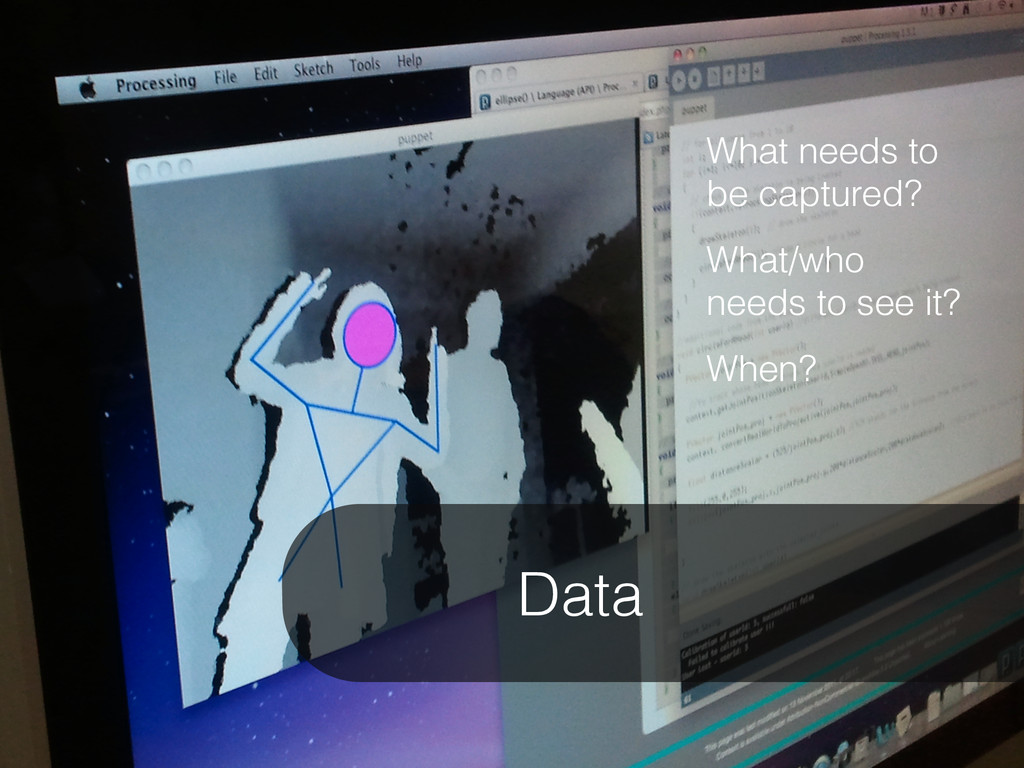 Data What needs to be captured? What/who needs ...
