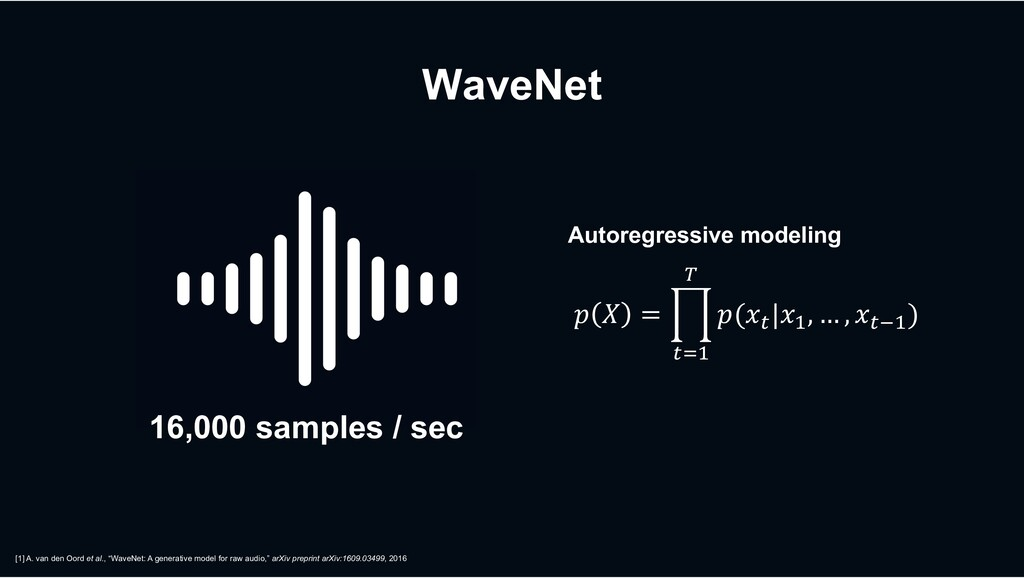 """WaveNet [1] A. van den Oord et al., """"WaveNet: A..."""