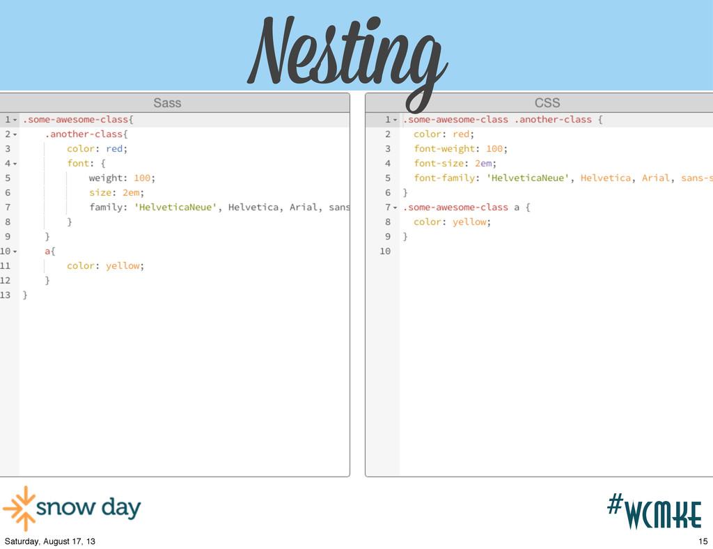 #wcpvd Nesting #wcmke Nesting 15 Saturday, Augu...