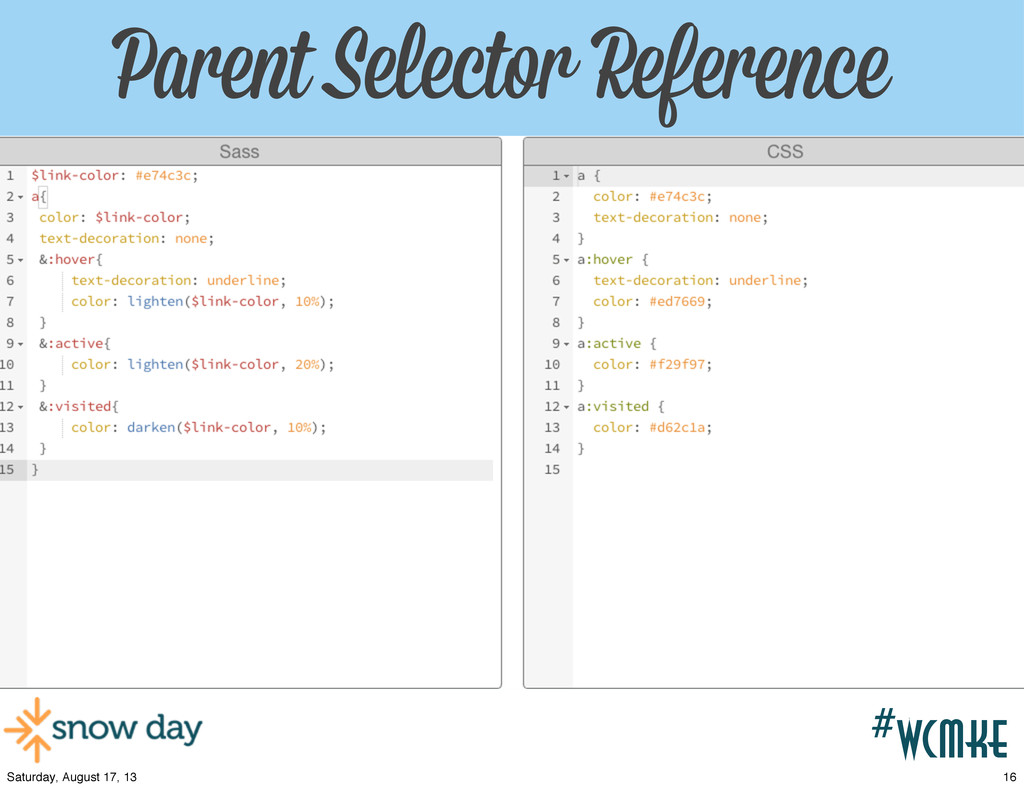 #wcpvd Parent Selector Reference #wcmke 16 Satu...