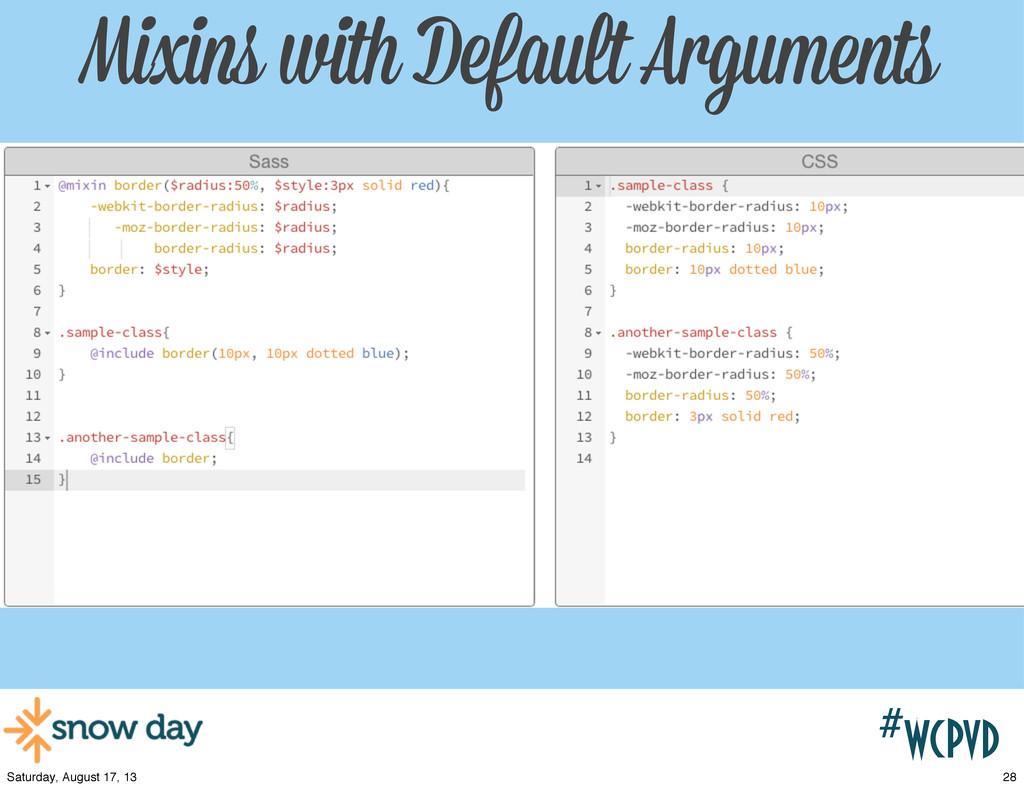 #wcpvd Mixins with Default Arguments 28 Saturda...