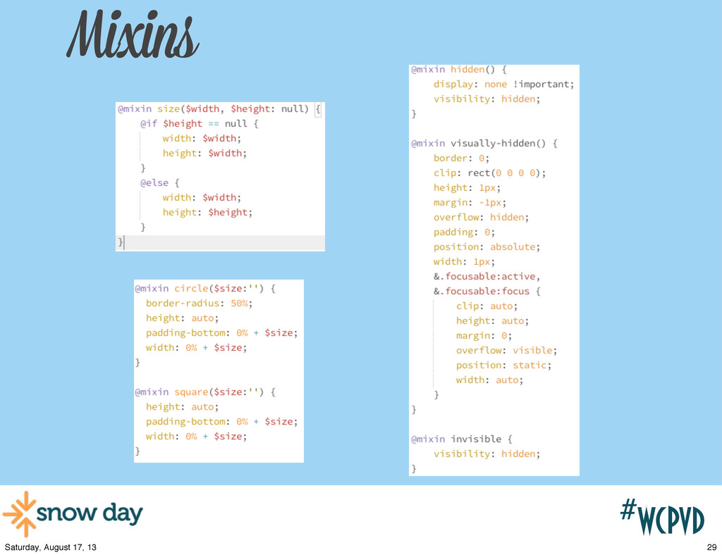 #wcpvd Mixins 29 Saturday, August 17, 13