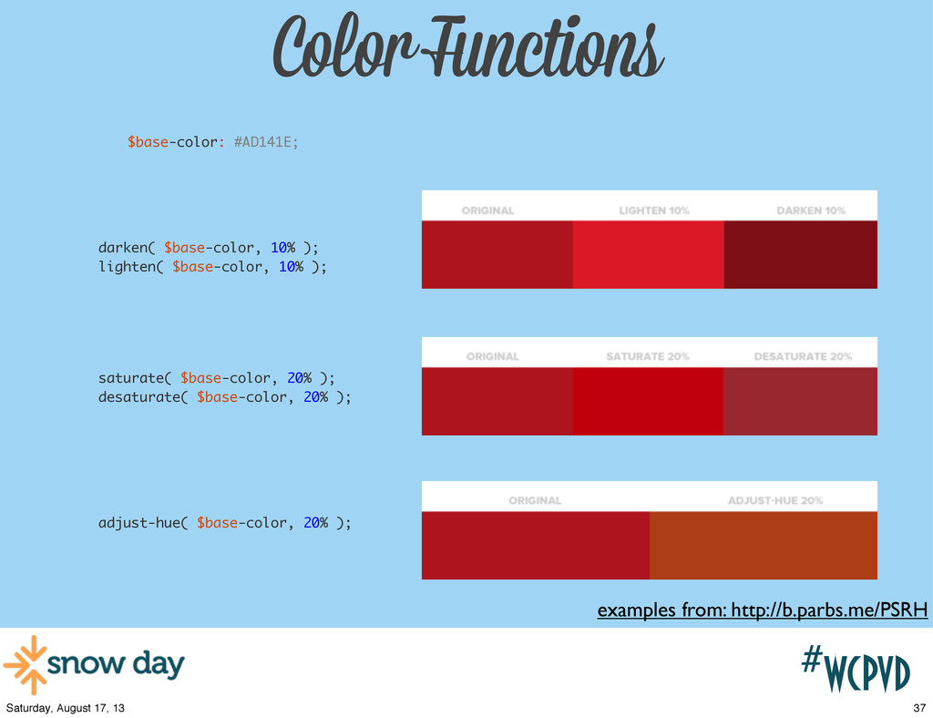 #wcpvd Color Functions examples from: http://b....