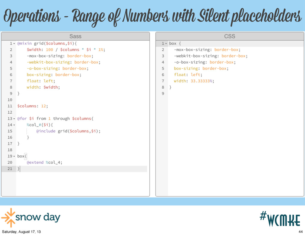 #wcpvd Operations - Range of Numbers with Silen...