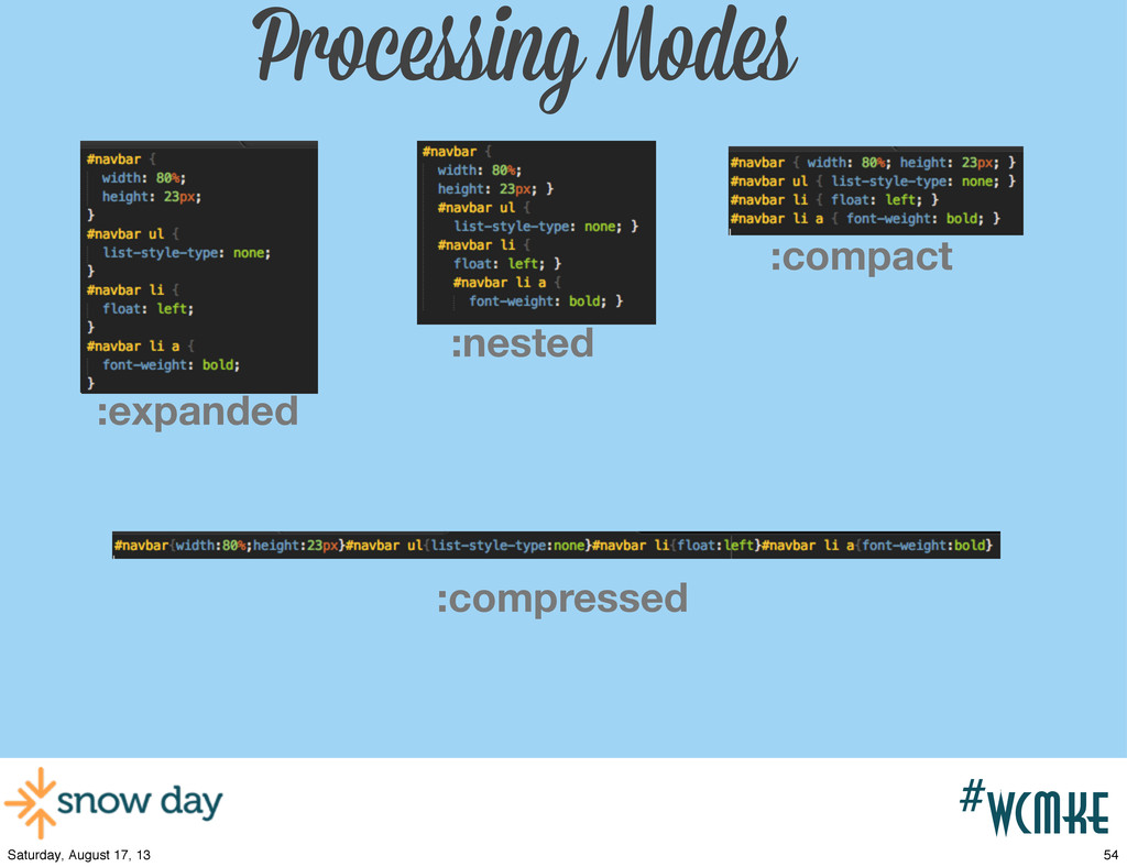 #wcpvd #wcmke Processing Modes :nested :expande...