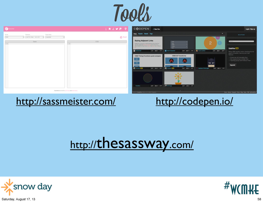 #wcpvd #wcmke Tools http://sassmeister.com/ htt...