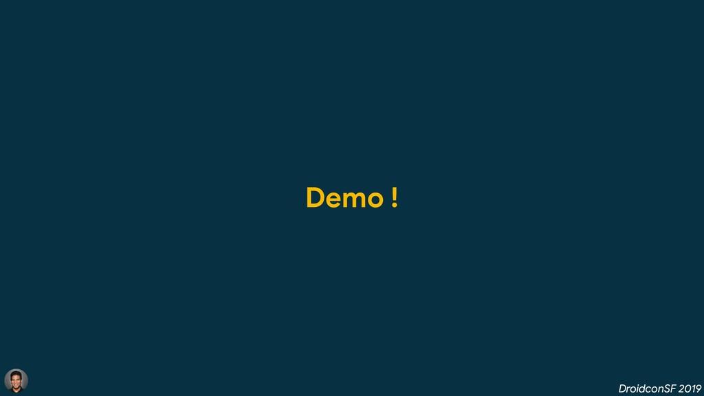 DroidconSF 2019 Demo !