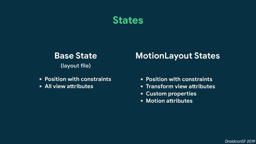 DroidconSF 2019 States Base State MotionLayout ...