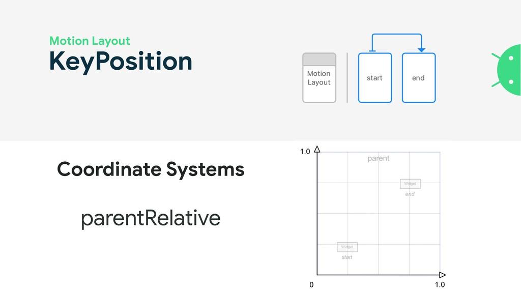 KeyPosition Motion Layout parentRelative Coordi...