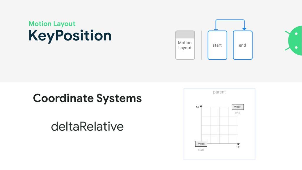 KeyPosition Motion Layout deltaRelative Coordin...