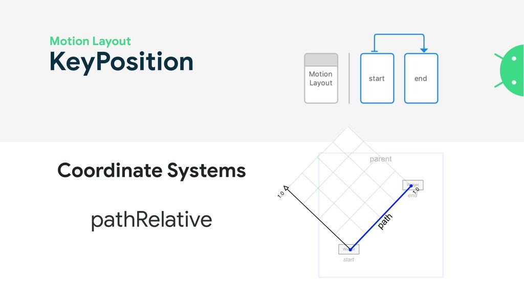 KeyPosition Motion Layout pathRelative Coordina...