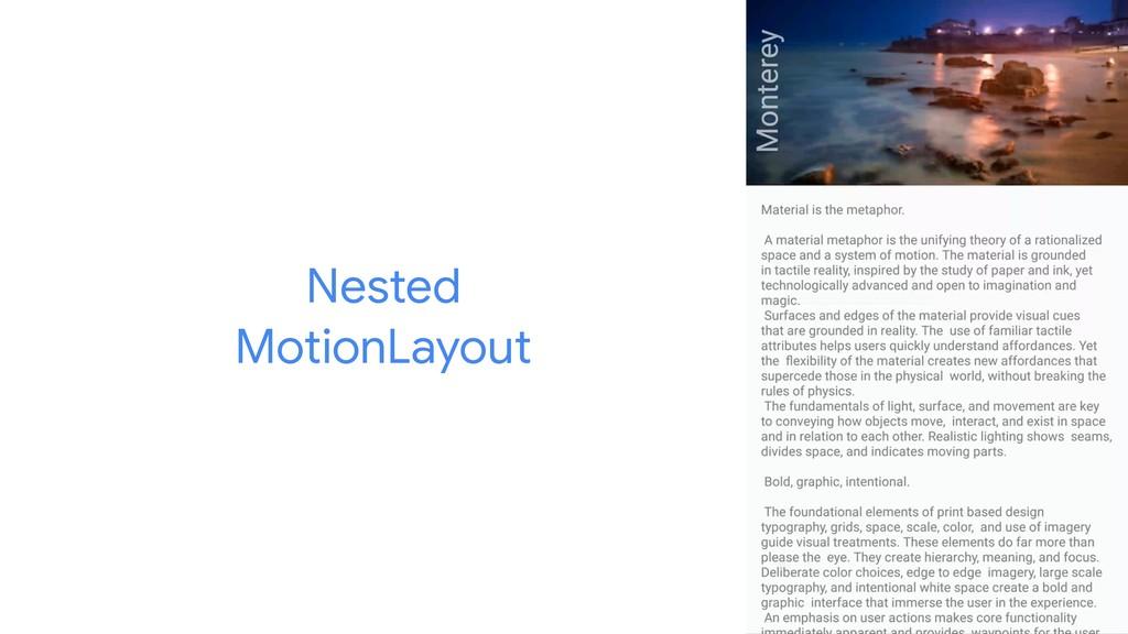 Nested   MotionLayout
