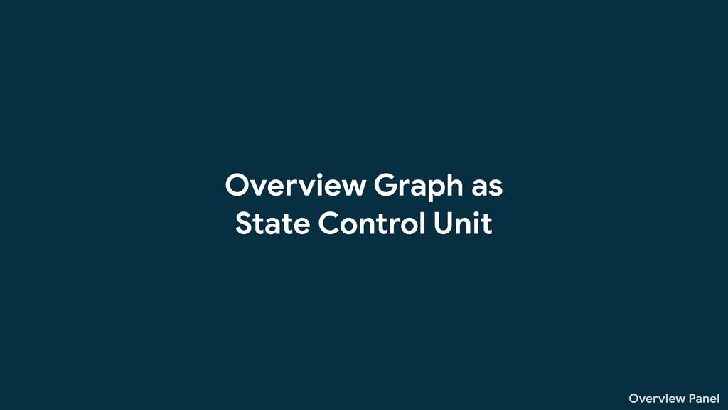 Overview Panel Overview Graph as State Control ...