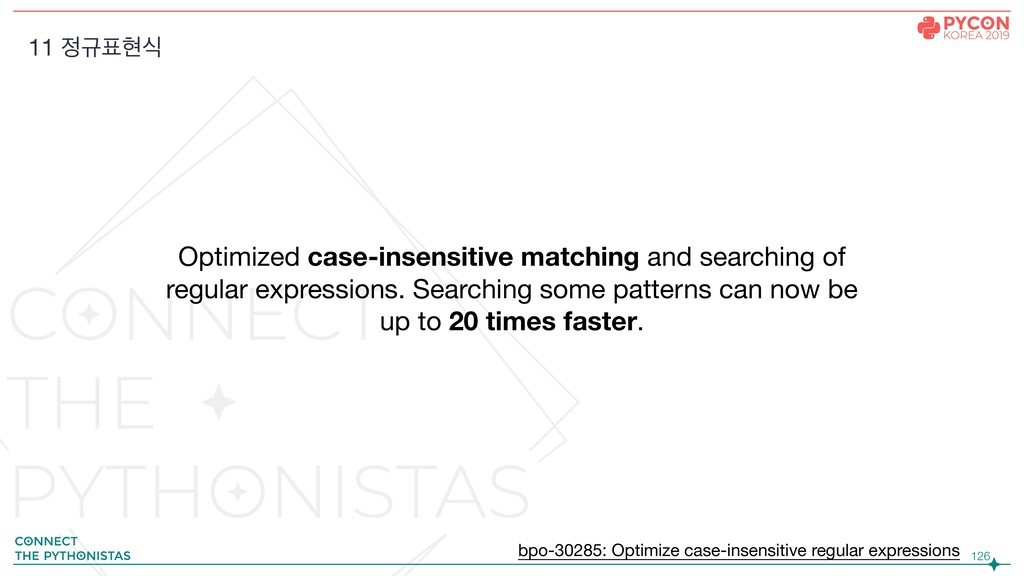!126 Optimized case-insensitive matching and se...