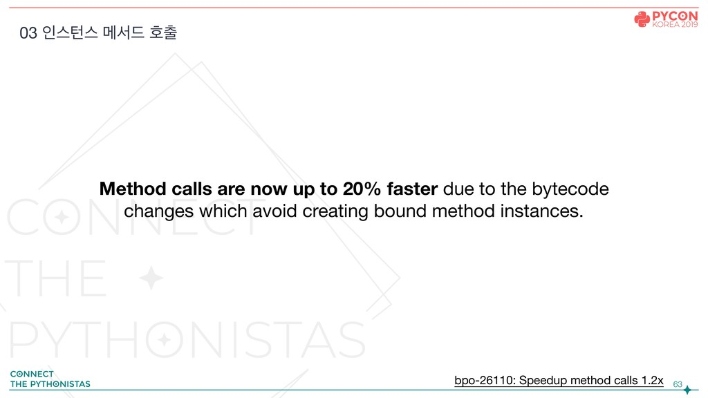 !63 Method calls are now up to 20% faster due t...
