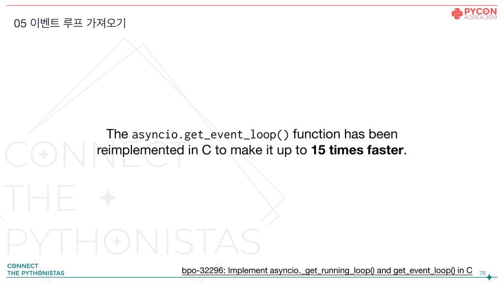 !76 The asyncio.get_event_loop() function has b...