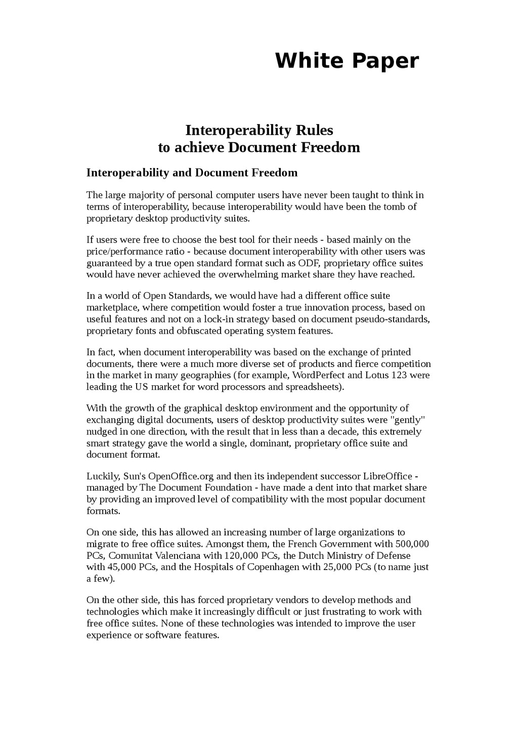 White Paper Interoperability Rules to achieve D...