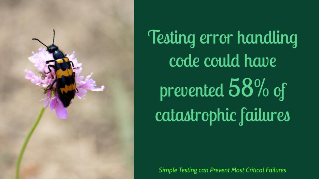 Testing error handling code could have prevente...