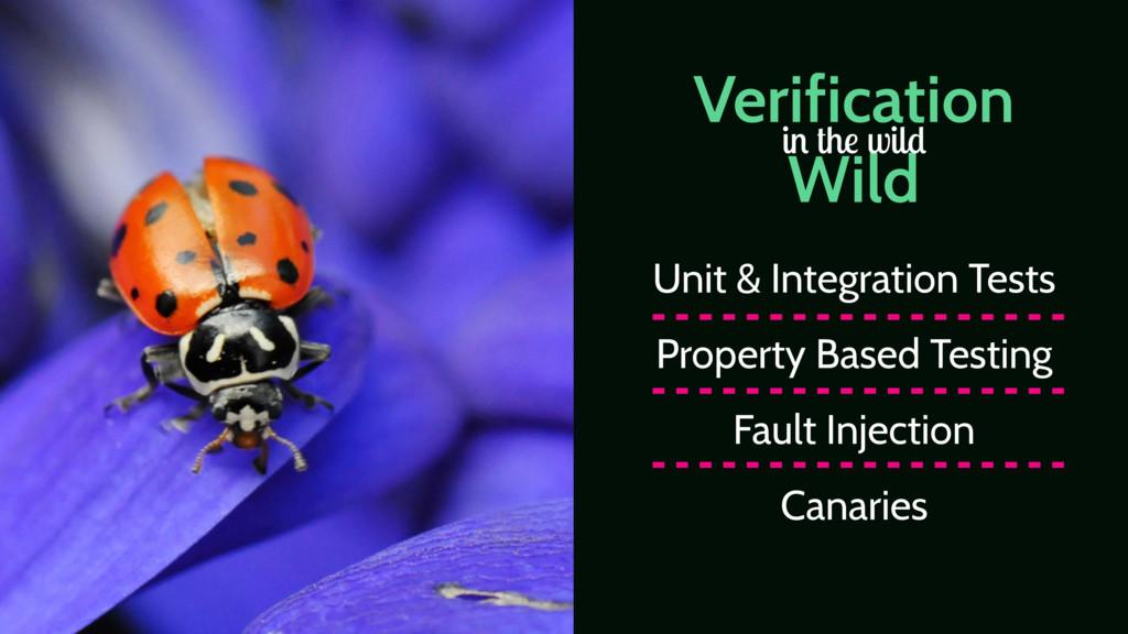 Verification Wild in the wild Unit & Integratio...