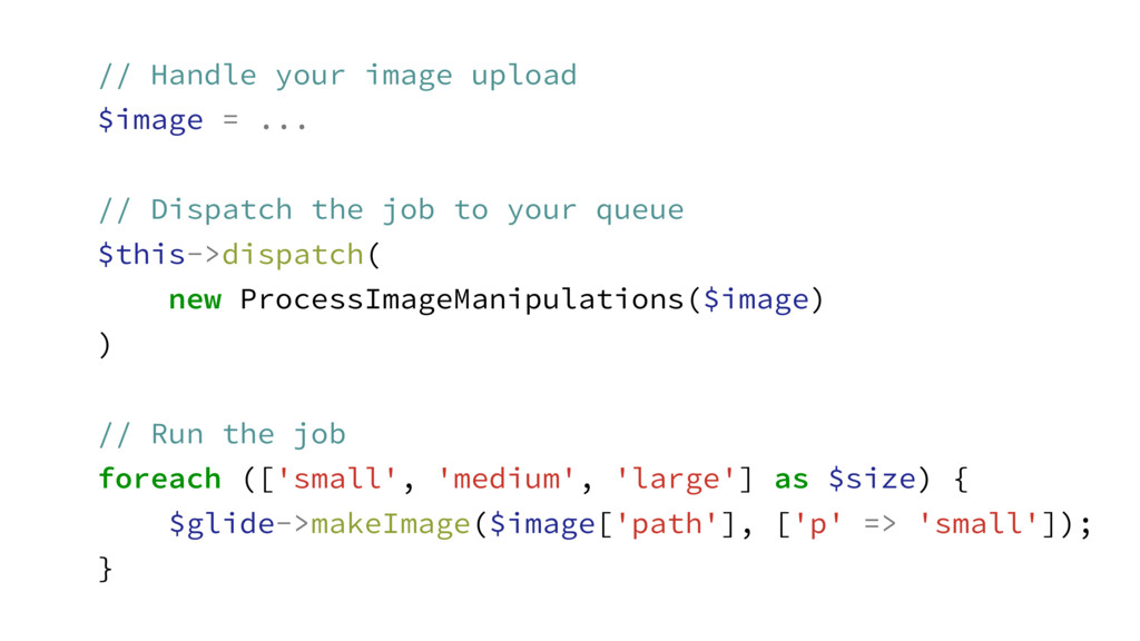 // Handle your image upload $image = ... ! // D...