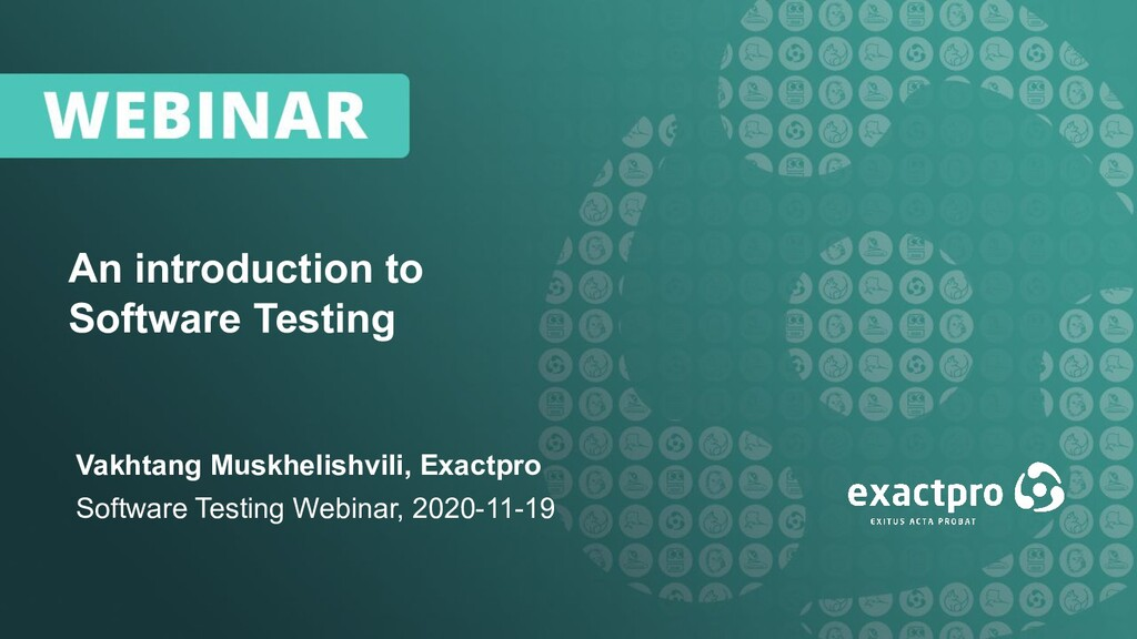 1 An introduction to Software Testing Vakhtang ...