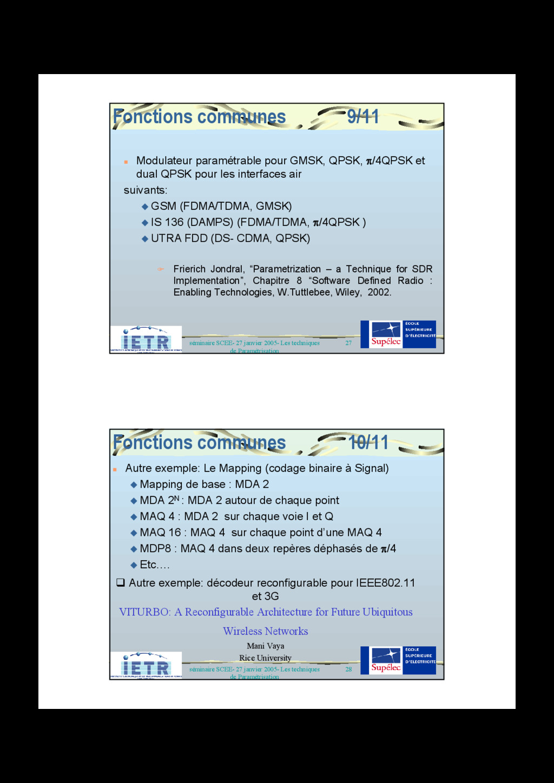 27 séminaire SCEE- 27 janvier 2005- Les techniq...