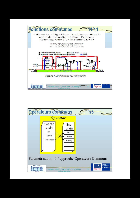 29 séminaire SCEE- 27 janvier 2005- Les techniq...