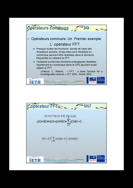 31 séminaire SCEE- 27 janvier 2005- Les techniq...
